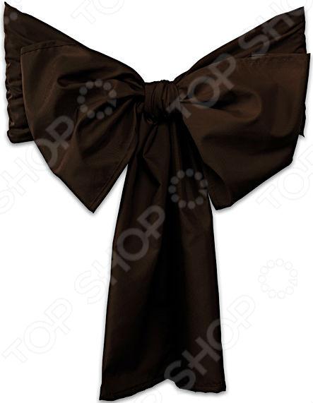 Бант на стул Еврочехол «Микрофибра. Черный шоколад»