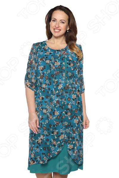 Платье Pretty Woman «Розетта». Цвет: темно-бирюзовый туника женская pretty woman мэри цвет бирюзовый размер 50