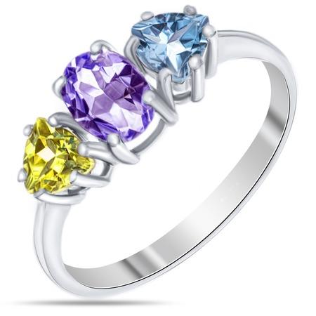 Купить Кольцо «Россыпь самоцветов» 0642-R-AM-C-T