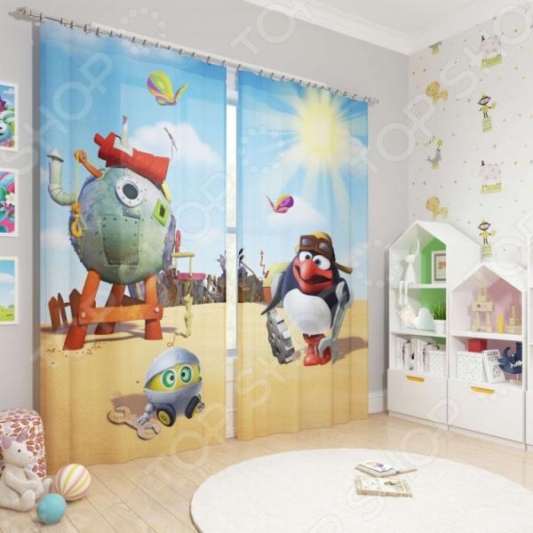 фото Фотошторы детские Сирень «Пин», Портьеры для детской комнаты