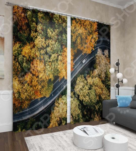 Фотошторы Сирень «Осенний путь» шторы томдом фотошторы осенний дуб