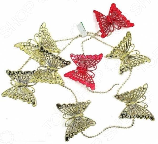 Бусы елочные Новогодняя сказка «Бабочки»