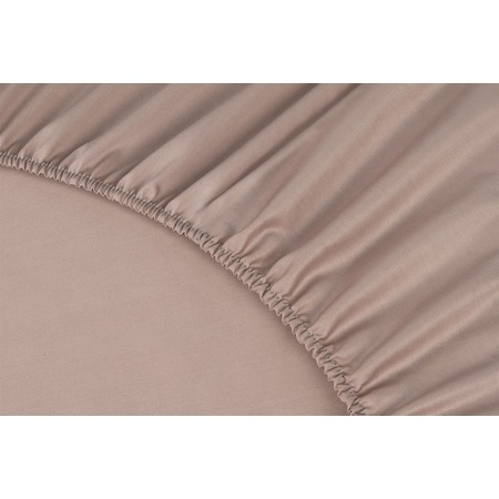 Купить Простыня на резинке Ecotex Premium. Тип ткани: сатин. Цвет: пудровый