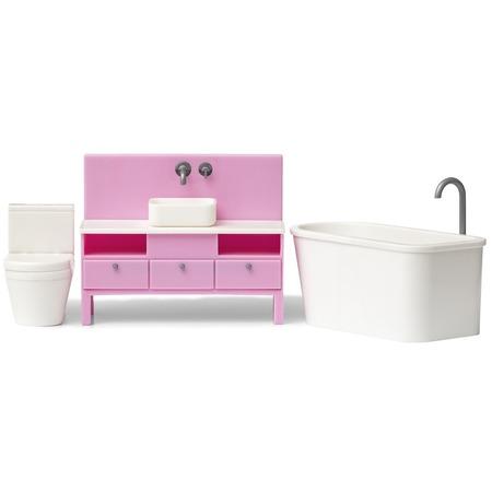 Купить Мебель для куклы Lundby «Базовый набор для ванной комнаты»