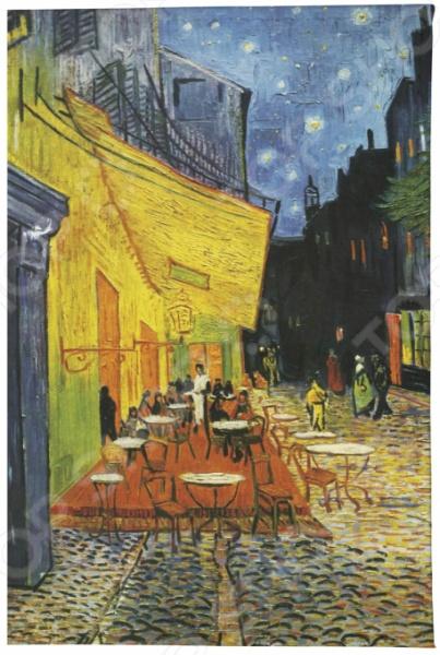 Обложка для паспорта кожаная Mitya Veselkov «Ван Гог. Терраса кафе ночью» визитница mitya veselkov ван гог терраса кафе ночью