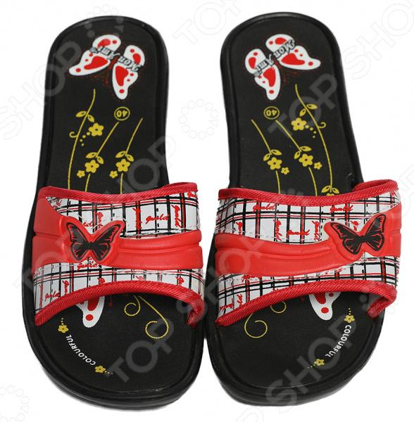 Шлепанцы Mon Ami «Сердце океана». Цвет: черный обувь тамарис летняя