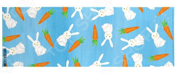 Обложка для студенческого билета Mitya Veselkov «Зайки и морковки» мобили henglei зайки с батарейками