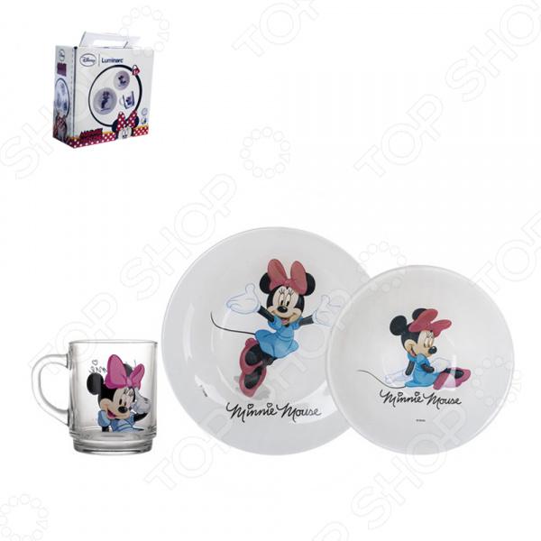 Набор детской посуды Luminarc Disney Minnie Colors disney набор детской посуды королевские питомцы 3 предмета