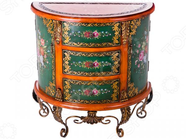 Комод 395-137 гладильный комод he wang с 3 корзинами и 2 ящиками цвет коричневый горчичный