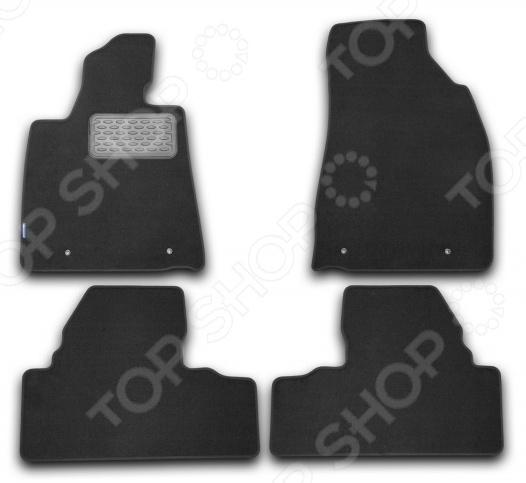 Комплект ковриков в салон автомобиля Novline-Autofamily Lexus RX 270 2009 внедорожник. Цвет: черный