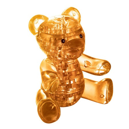 Купить Кристальный пазл 3D Crystal Puzzle «Мишка янтарный»