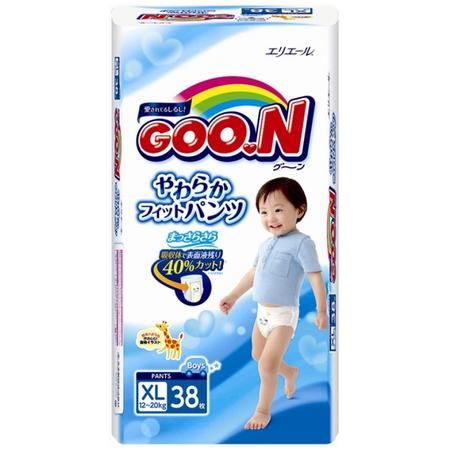 Купить Трусики-подгузники для мальчиков Goon Big (12-20 кг)