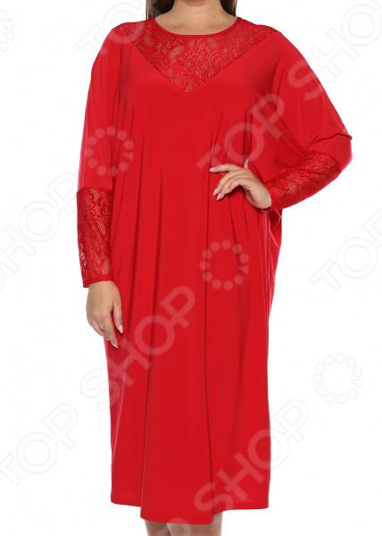 Платье «Лаурель». Цвет: красный платье футболка женское deha из трикотажного хлопка
