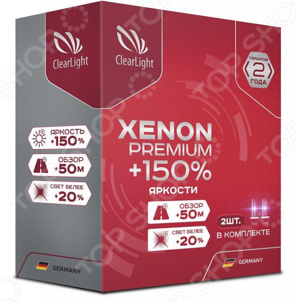 Комплект автоламп ксеноновых ClearLight Xenon Premium +150% H11