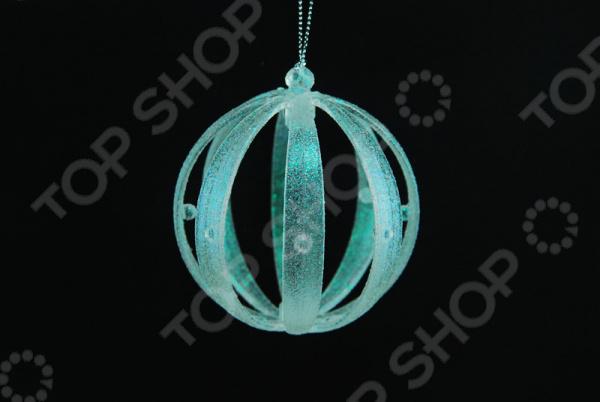 Новогоднее украшение Crystal Deco «Шар блестящий» украшение для интерьера ягодный шар
