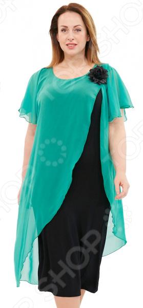Платье Матекс «Загадочная незнакомка». Цвет: зеленый