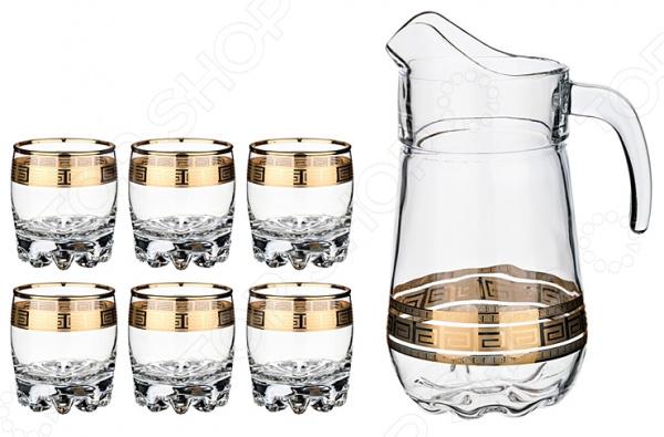 Набор: кувшин и 6 стаканов «Греция»