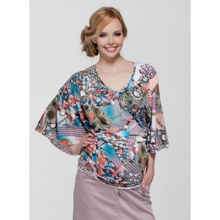Купить Блузка для беременных Nuova Vita 1339.1. Цвет: коралловый, голубой