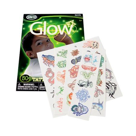 Купить Детские татуировки для мальчиков Savvi светящиеся