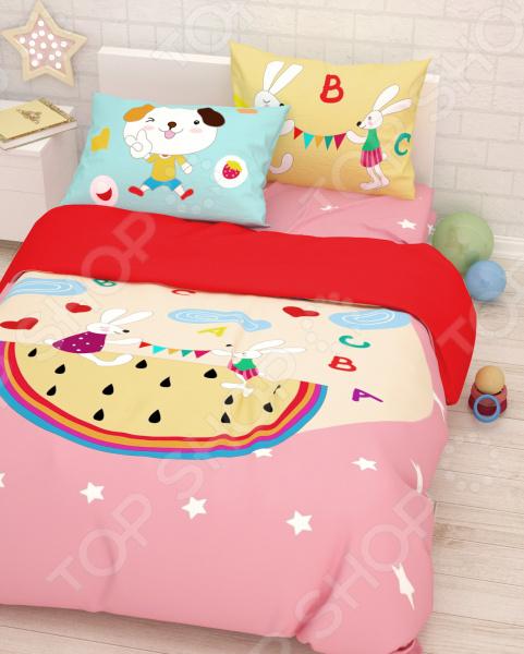 Детский комплект постельного белья Сирень «Игры»