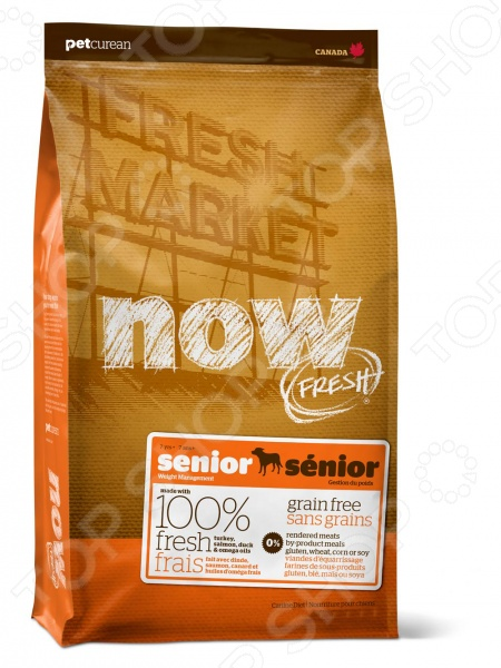 Корм сухой для собак беззерновой NOW Fresh Senior Recipe Grain Free