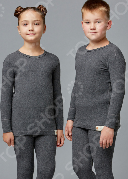 Лонгслив детский «Ангора» 1723331. Цвет: серый ангора одежда