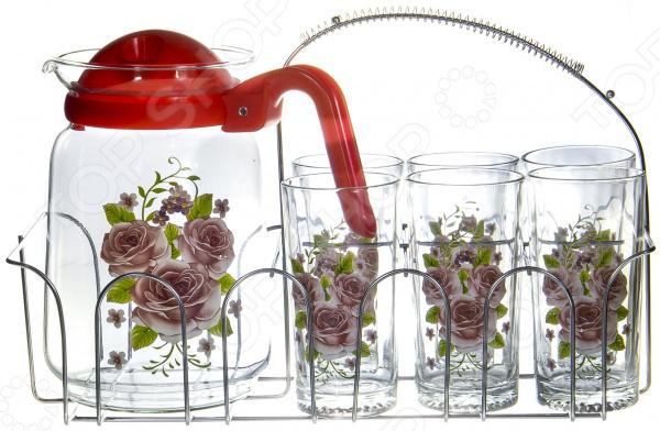 Набор: кувшин и 6 стаканов OlAff SLD-7DS915-R-003
