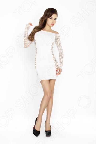 Платье-сетка Passion BS025 платье сетка candy girl полосатое os