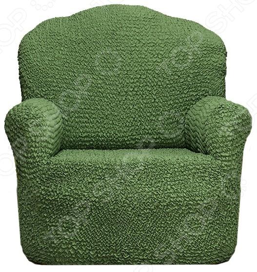 Zakazat.ru: Натяжной чехол на кресло Еврочехол «Микрофибра. Зеленый»