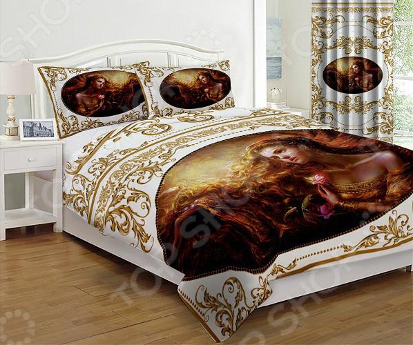 Комплект постельного белья «Византия». 1,5-спальный. Цвет: белый