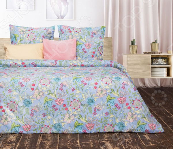 Комплект постельного белья Сова и Жаворонок «Хризантема» комплект постельного белья двуспальный tango twill 57 50