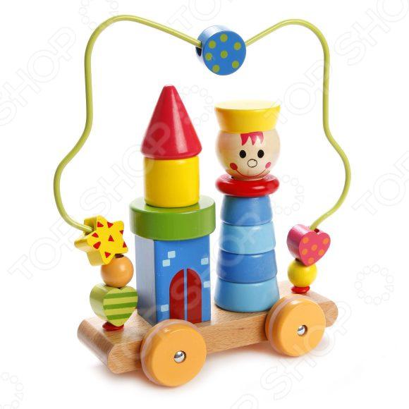 Игрушка-пирамидка Mapacha на колесиках «Лабиринт. Мальчик» чикко игрушка развивающая улитка на колесиках вперед ребята