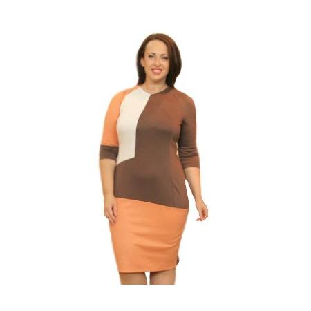 Купить Платье Klimini Надежда. Цвет: бежевый, розовый