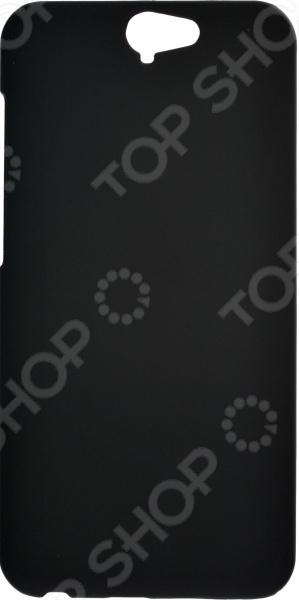 Чехол защитный skinBOX HTC One A9 красный дизайн кожа pu откидная крышка бумажника карты держатель чехол для htc one a9