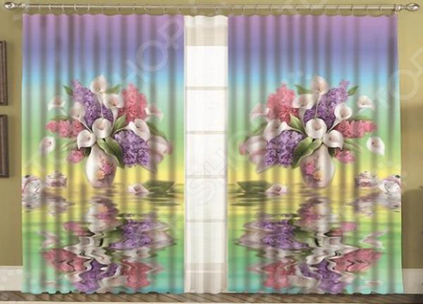 Комплект фотоштор с тюлем «Отражение»