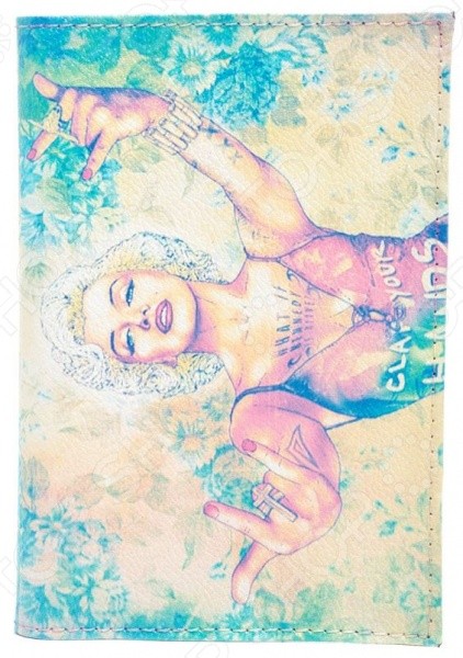 Обложка для паспорта кожаная Mitya Veselkov «Мерлин+Мадонна» mitya veselkov mitya veselkov kafka 29