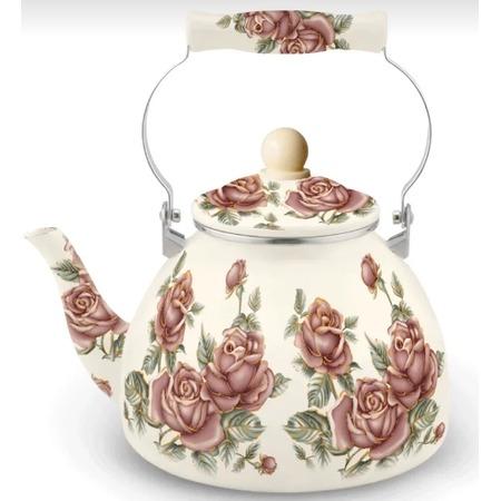 Купить Чайник эмалированный Kelli KL-4448 «Бутоны»
