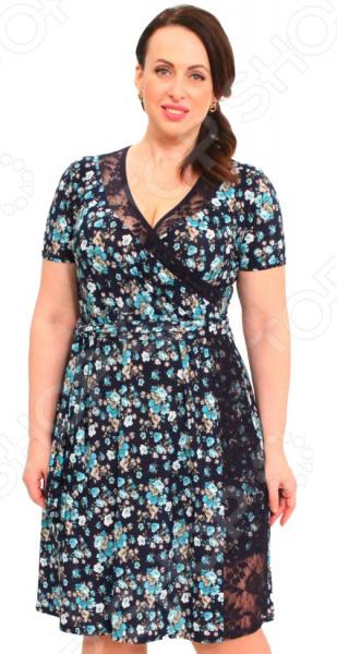 Платье Матекс «Дамское очарование». Цвет: голубой