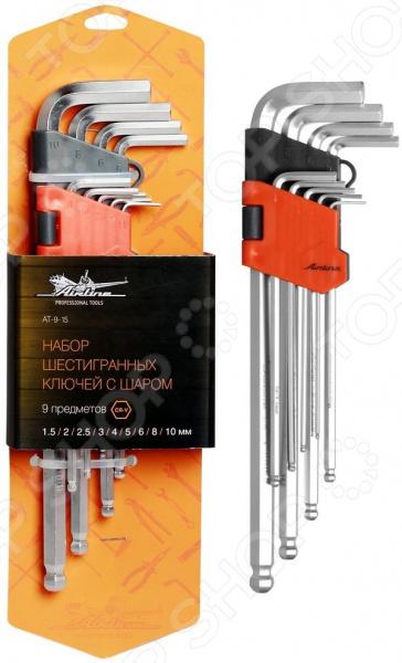 Набор ключей шестигранных Airline AT-9-15 набор шестигранных ключей kraftool 27444 h13