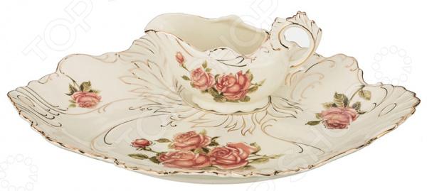 Набор для сервировки стола: блюдо и соусник Lefard «Корейская роза» 126-628 менажница lefard корейская роза 126 549