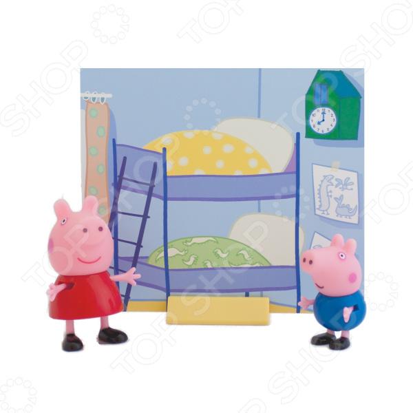 Игровой набор с фигурками Peppa Pig «Пеппа и Джордж» игровой набор росмэн т м peppa pig каталка динозавр с фигурками