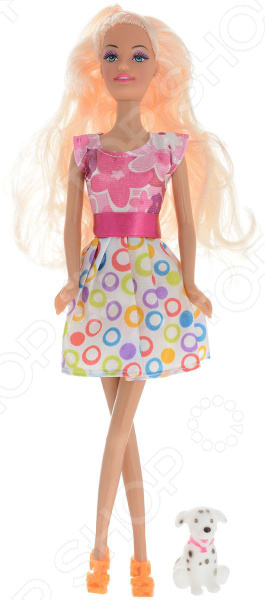 Кукла Toys Lab «Блондинка в розово-белом платье: Прогулка с щенком» toys lab летний домик toys lab тойз лаб