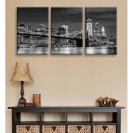 Купить Картина 3-модульная ТамиТекс «Бруклинский мост»