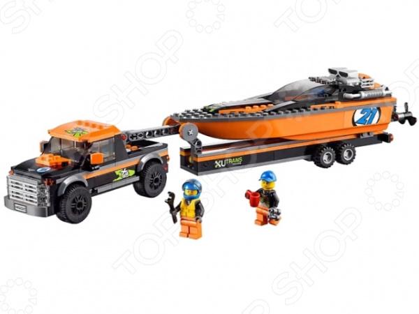 ФОТО lego 60085 Внедорожник 4x4 с гоночным катером