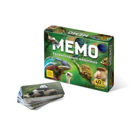 Купить Игра настольная развивающая БЭМБИ «Мемо. Удивительные Животные»