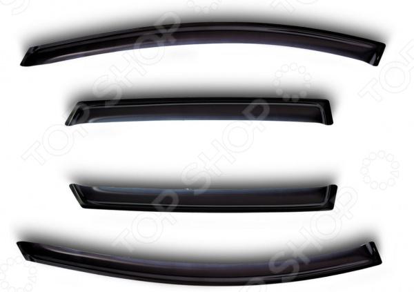 Дефлекторы окон Novline-Autofamily Nissan Navara 2005 на 2 окна