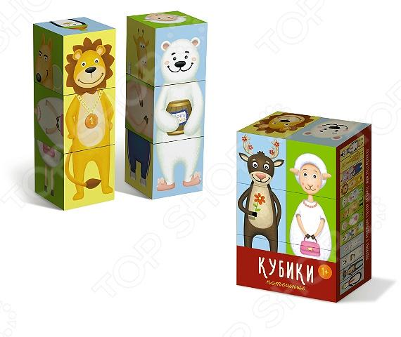 Кубики развивающие Стеллар «Потешные» развивающие игрушки стеллар кубики животные 4 шт