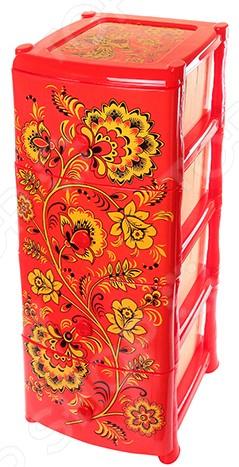 Комод 4-х секционный Violet 0352 «Хохлома» россия сухарница хохлома 300 х 180 х 40 мм