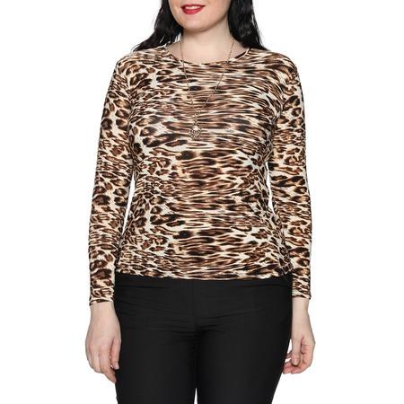 Купить Блуза Blagof «Женщина-загадка». Цвет: коричневый