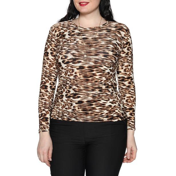 фото Блуза Blagof «Женщина-загадка». Цвет: коричневый. Размер одежды: 56